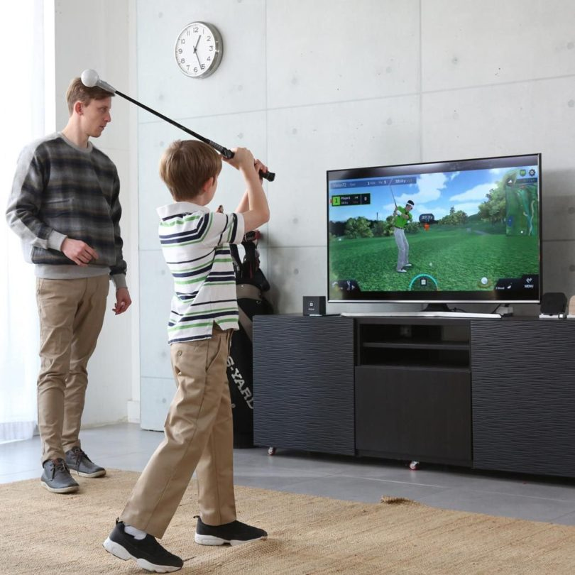PhiGolf Mobile Golf Simulator with Swing Stick