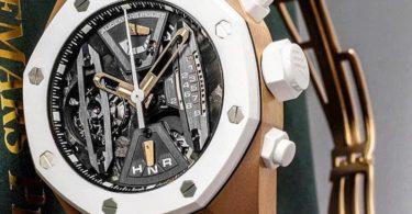 Audemars Piguet Royal Oak Concept 44MM White 18K Rose Gold Tourbillon Chronograph