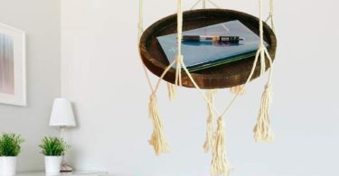 Okasi Shelf Hanging Planter with Decorative Beads