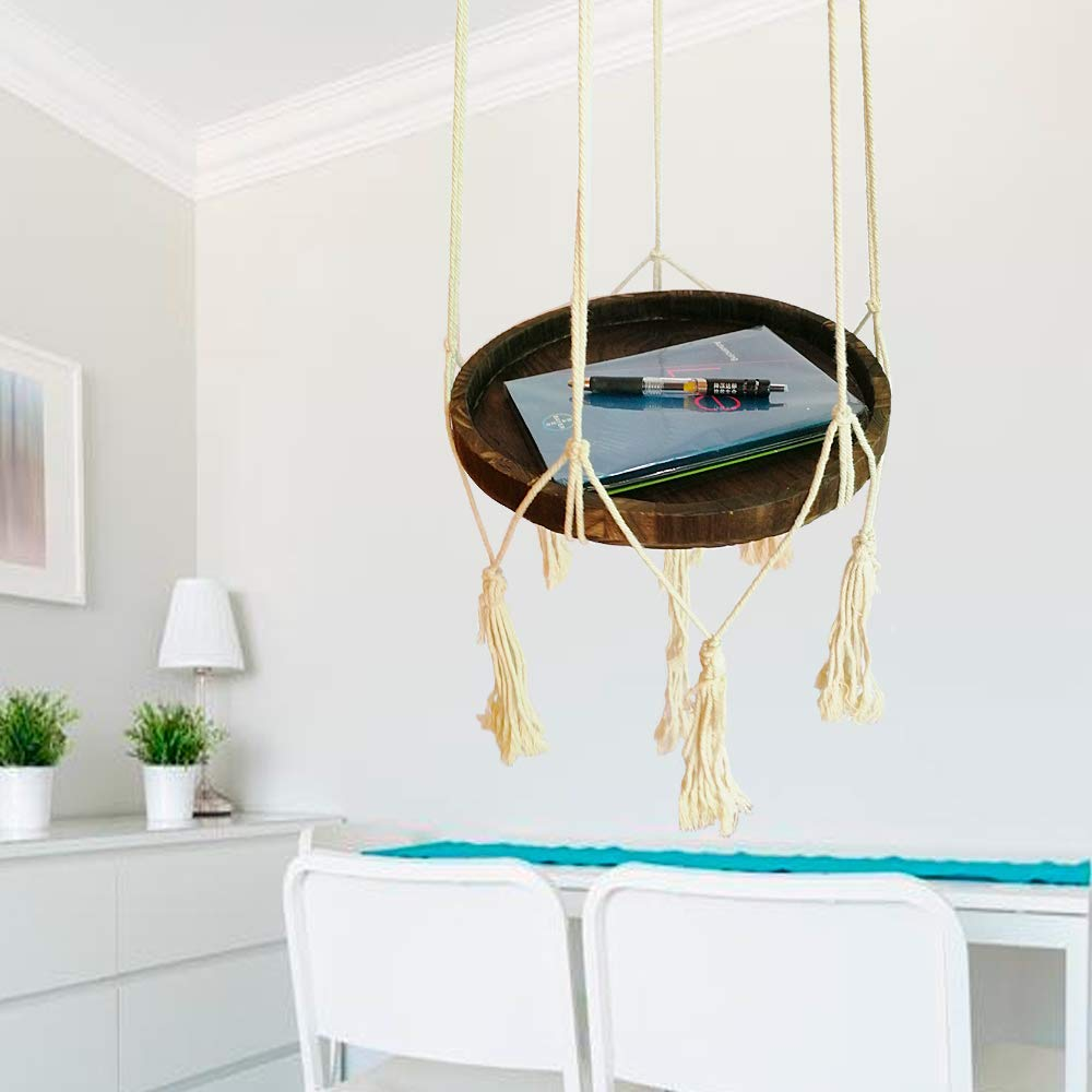 Okasi Shelf Hanging Planter with Decorative Beads