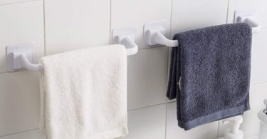 Single Rod Drill Free Towel Bars