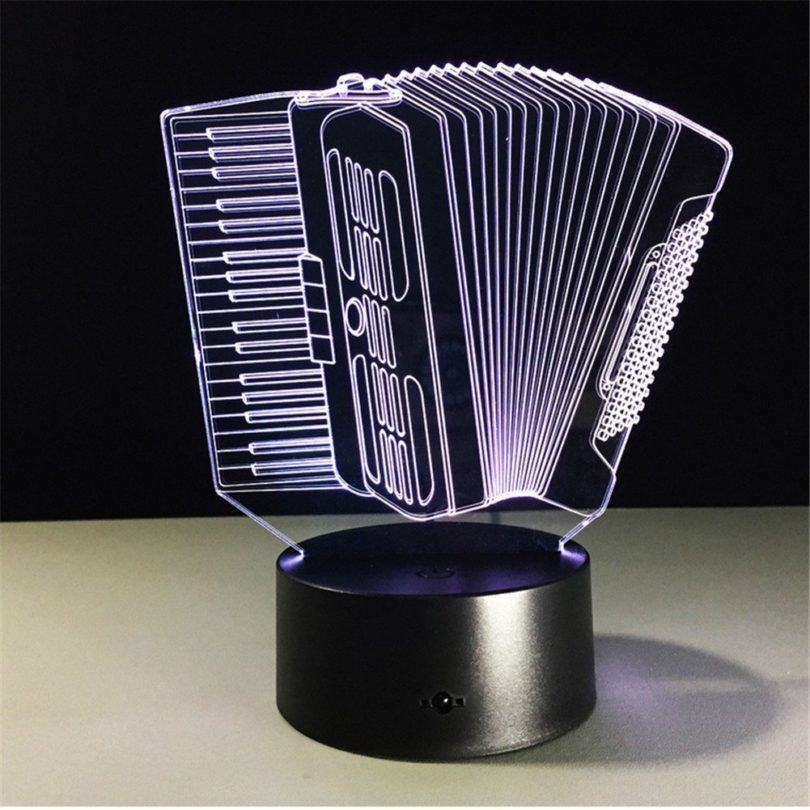 Accordion 3D Light Colorful Remote Touch