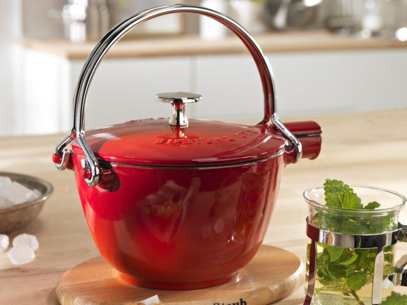 Staub Cast Iron Dark Blue 1-qt Round Tea Kettle