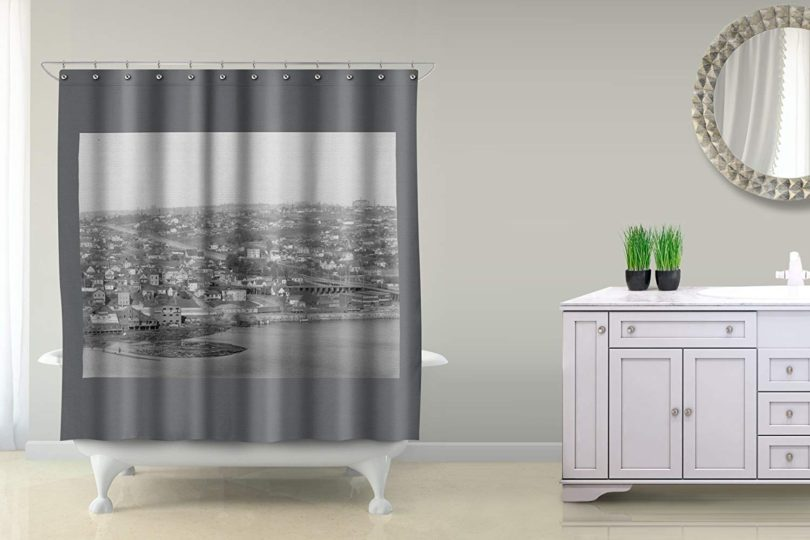 Fremont and Wallingford Photograph Polyester Shower Curtain