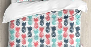 Ambesonne Pineapple Duvet Cover Set