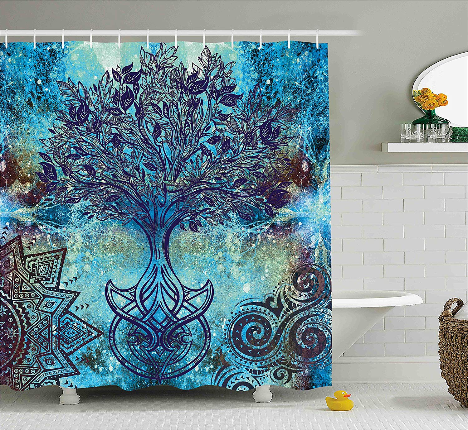 Ambesonne Ethnic Shower Curtain