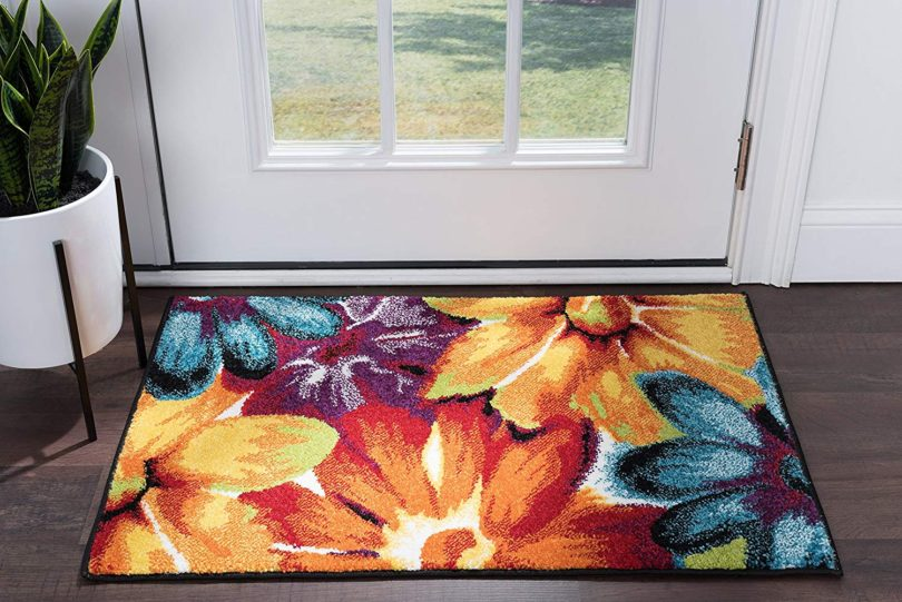 Zinnia Contemporary Abstract Multi Scatter Mat Rug