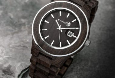 Earth Wood Cherokee Eco-Friendly Sustainable Wood Date Watch