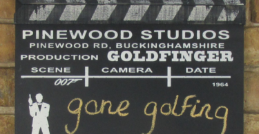 James Bond Goldfinger Black Board