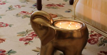Gold Grand Elephant Candle