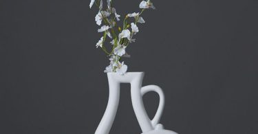 White Ceramic Outline Vases