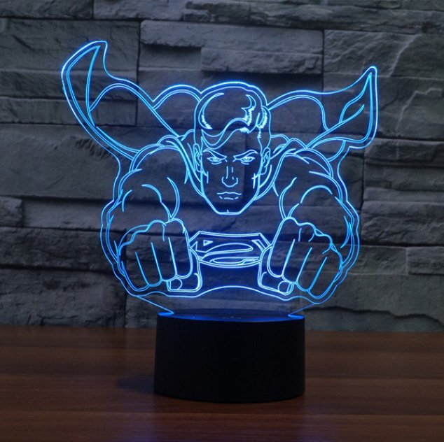 Superman 3D Illusion Lamp