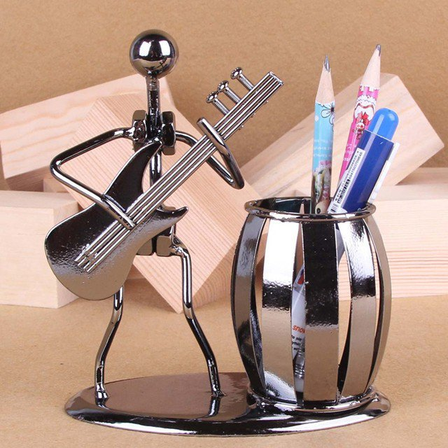 Musician Iron Man Creative Crafts Pen & Pencil Holder