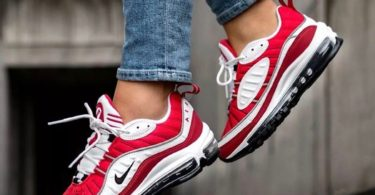 pretty nice 5ab9a 47960 Nike Air Max 98 White Gym Red