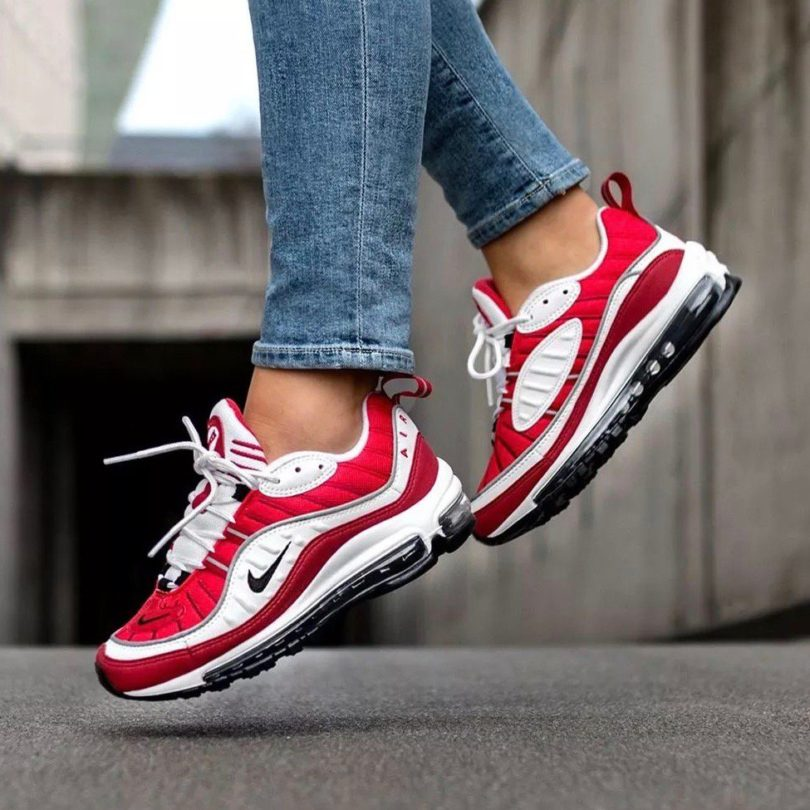 Nike Air Max 98 White Gym Red