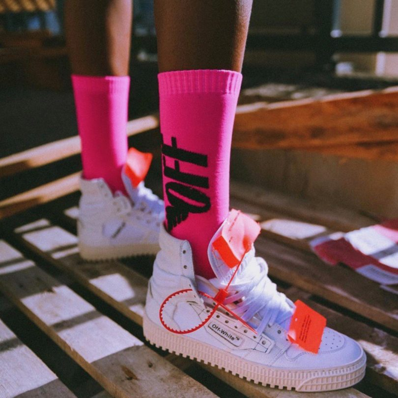 Off-White Pink Wings Socks