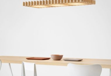 Grid Triple LED Pendant Light Ash Woods