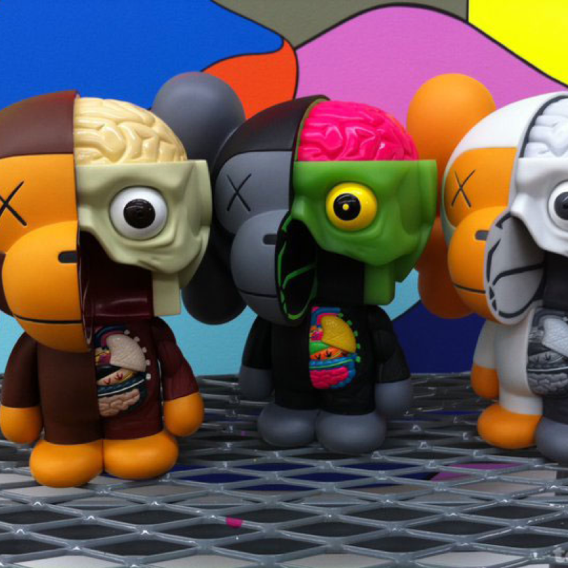 KAWS x BAPE Dissected Baby Milo Complete Set of 3