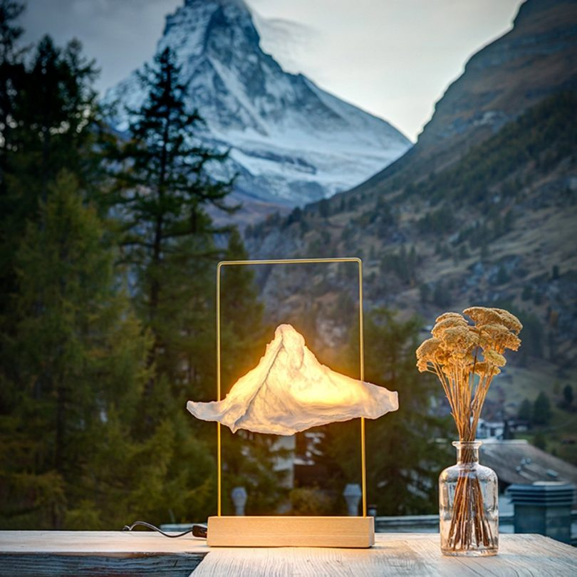 Large Matterlight Table Lamp in Brass & Ash by Boris Dennler