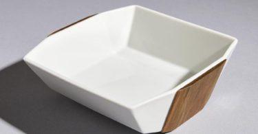 Zōgan Wood Inlaid Porcelain Bowl by TAMEN