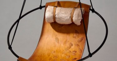Sling Chair with Embossed Leaves from Studio Stirling