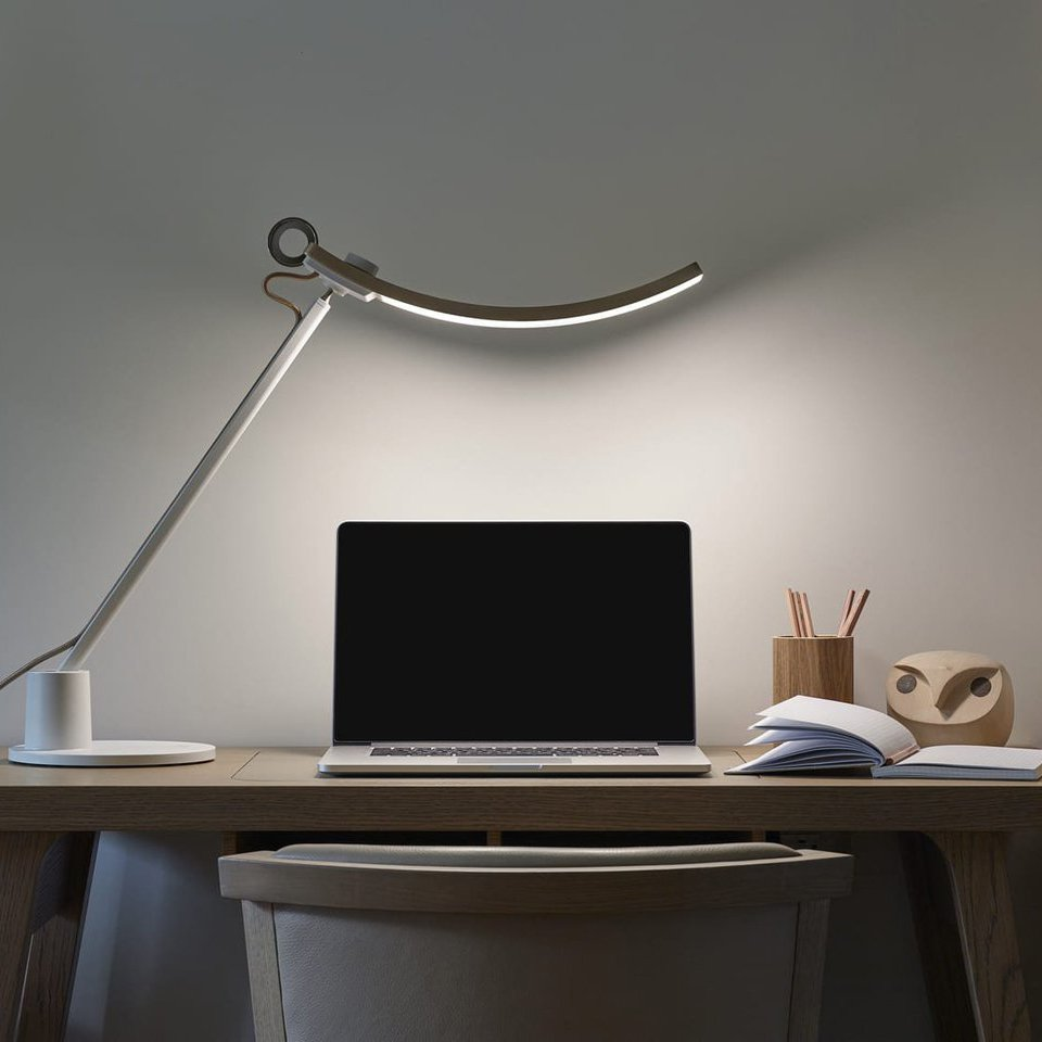 WiT Genie e-Reading Smart LED Desk Lamp Galaxy Silver