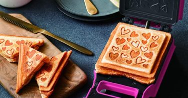 Recolte Quilt Hearts Toasted Sandwich Maker