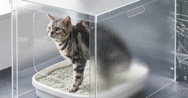Minimalist Acrylic Cat Litter Cover