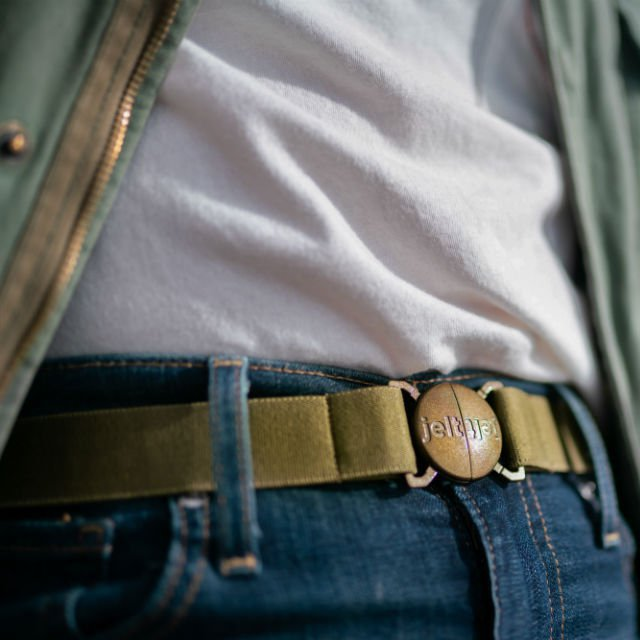 Khaki Green Elastic Belt