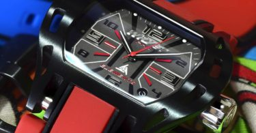 Wryst Elements PH6 Swiss Sports Watch in Black & Red