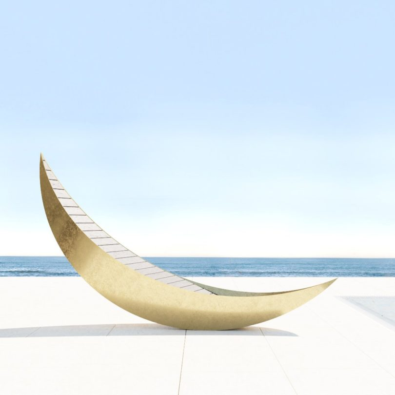 MOON Chaise Lounge from Metallofficina