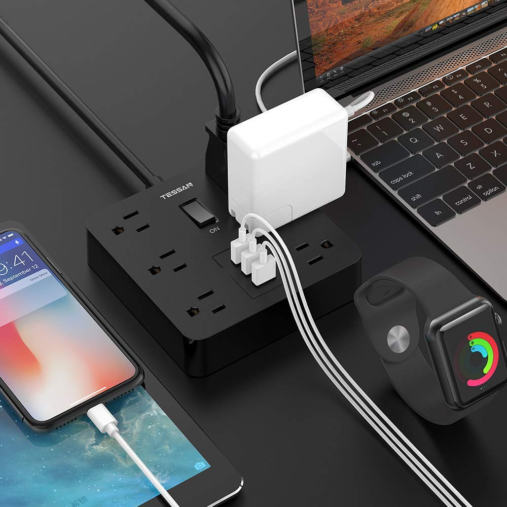 Power Strip with USB Ports