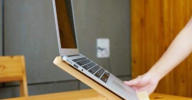 Pine Wood Stand Holder for 13 Inches Laptop Notebook MacBook