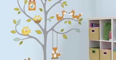 RoomMates Woodland Fox & Friends Tree Peel and Stick Wall Decals