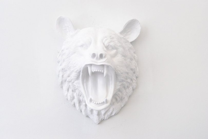 Near and Deer Bear Head Wall Mount