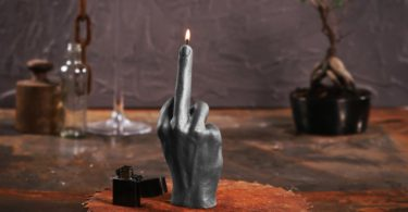 Candellana Candles Candellana- Middle Finger Candle-Gray