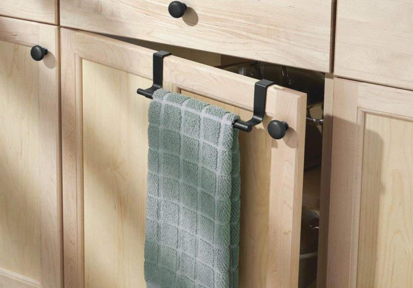 mDesign Adjustable, Expandable Kitchen Over Cabinet Towel Bar » Petagadget
