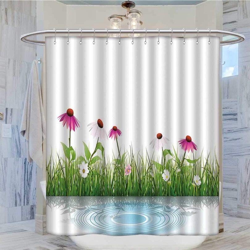 Jiahonghome Mildew Resistant Fabric Shower Curtain