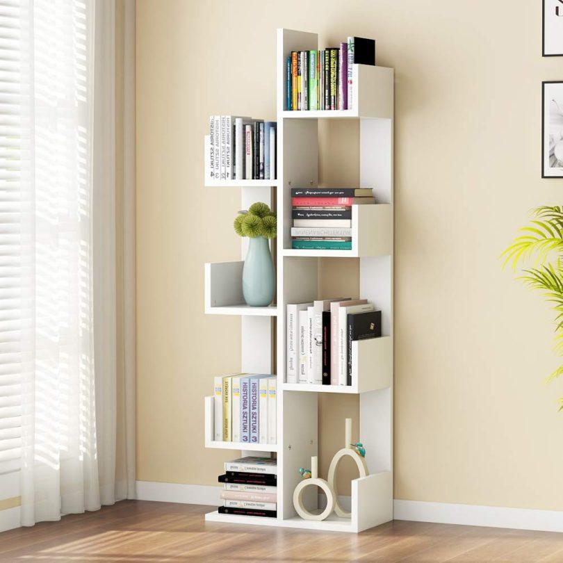 Tribesigns 8-Shelf Tree Bookshelf