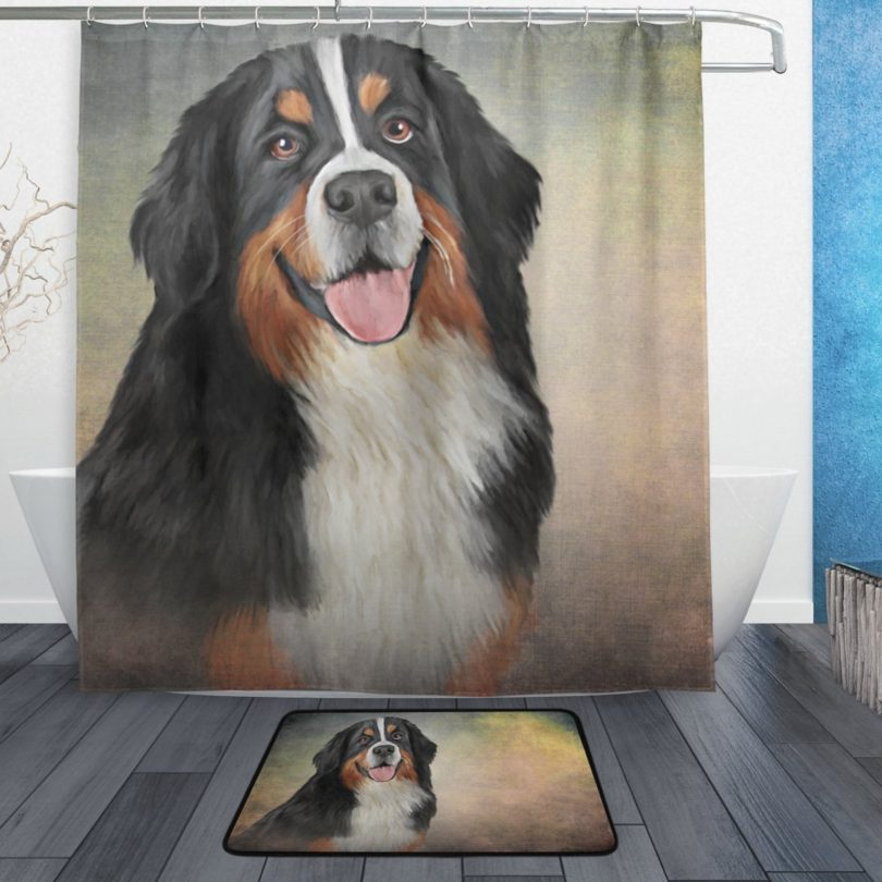 My Daily Bernese Mountain Dog Shower Curtain