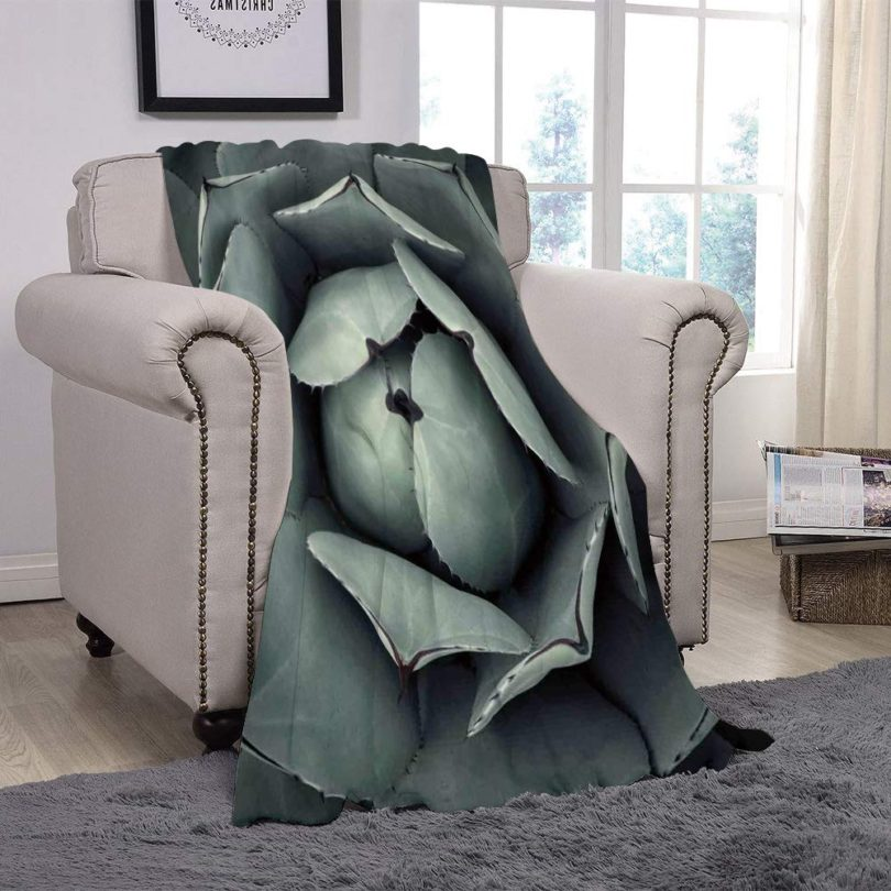 SCOCICI Super Soft Throw Blanket/Cactus Decor