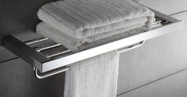 KOOLIFT Towel Rack Shelf with Single Fold-able Towel Bar