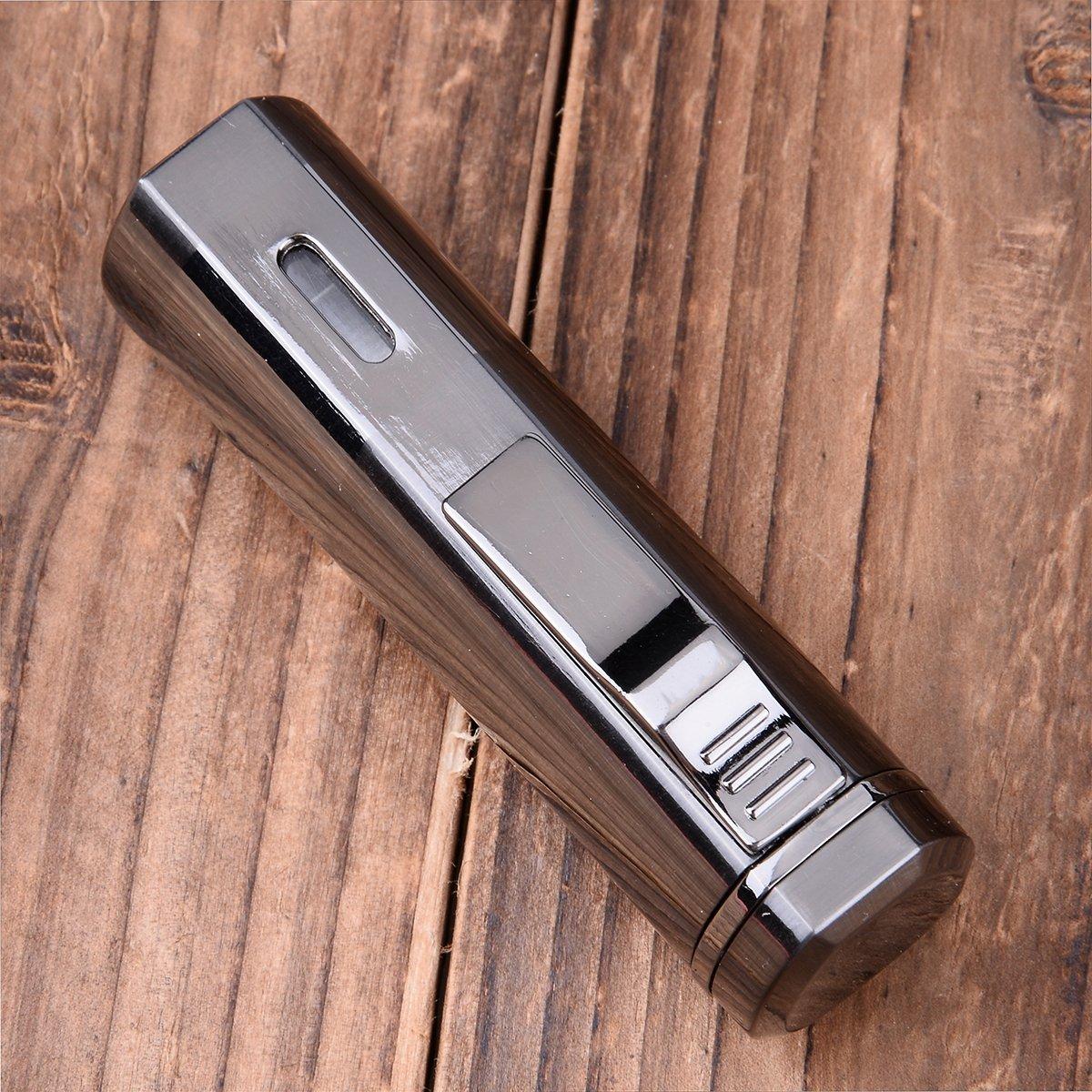 Cigarette Cigar Lighter Triple Jet Flame Butane Torch Combo Set Cigar Punch Cutter Tool
