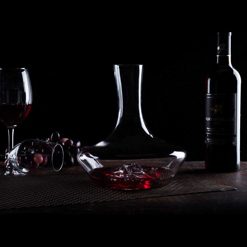 NP YouYah Iceberg Wine Decanter- 100% Hand Blown Lead-free Crystal Glass
