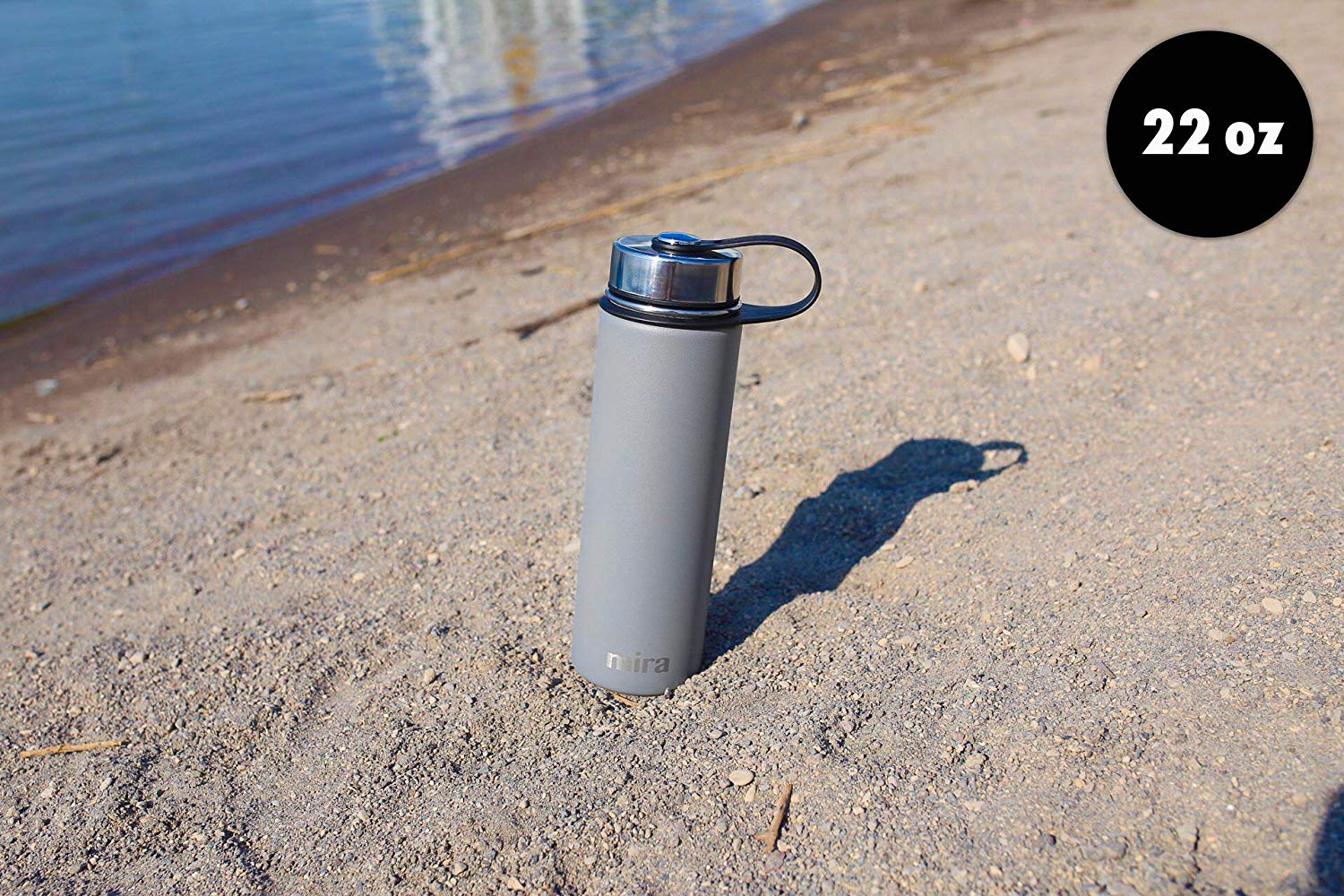 MIRA Stainless Steel Vacuum Insulated Wide Mouth Water Bottle
