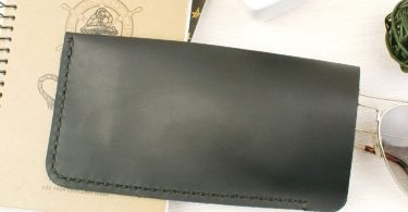 Soft Eyeglass Case Real Crazy Horse Leather