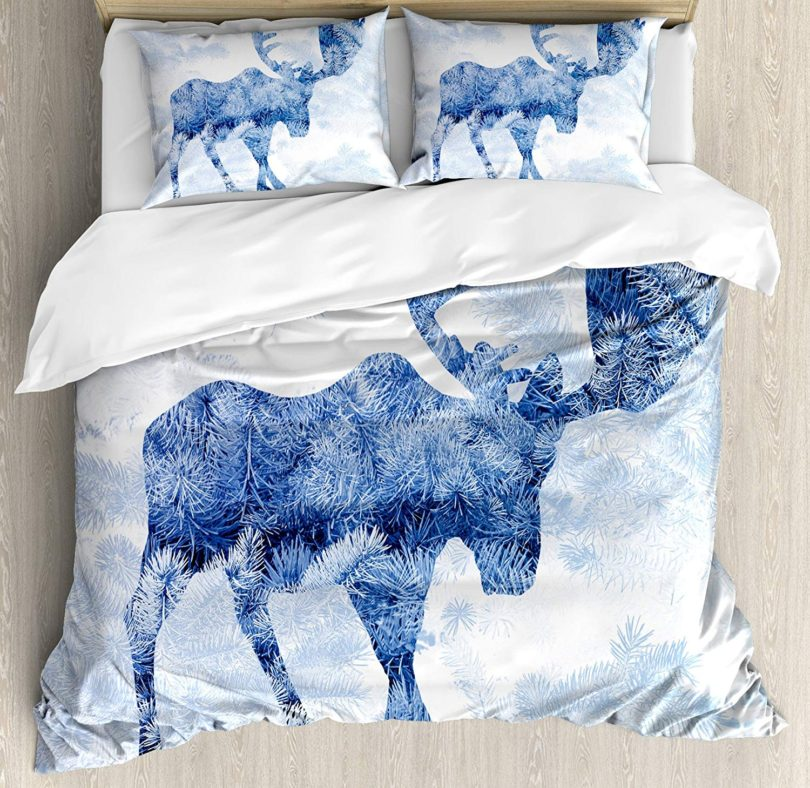 Ambesonne Moose Duvet Cover Set