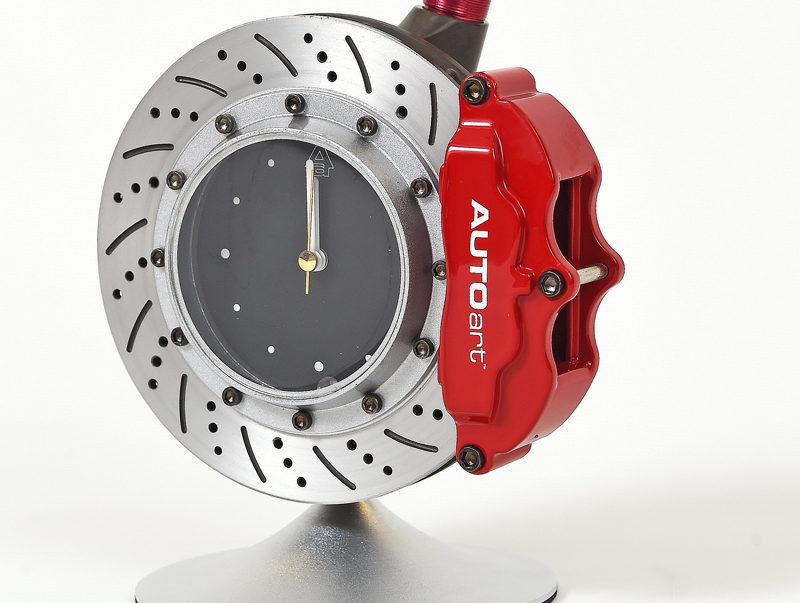 Auto Art Brake Disc Table Clock With Pen 187 Petagadget