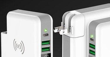 Qi Wireless Charger Plug Power Bank