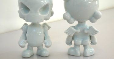 Sculpture SkullHead Blank Porcelain by Huck Gee